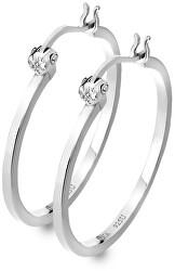Cercei din argint cu Hoops DE625 diamante