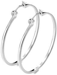 Cercei din argint cu Hoops DE626 diamante