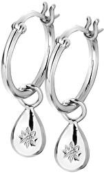 Cercei din argint cu Hoops DE627 diamante