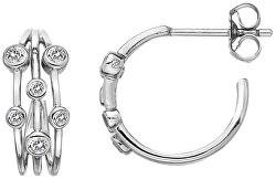 Cercei din argint cu diamante Tender DE641