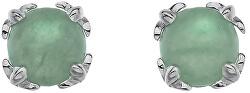 Strieborné náušnice Hot Diamonds Anais zelený Aventurín AE003