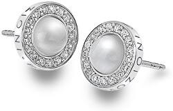 Strieborné náušnice Hot Diamonds Emozioni Giove Pearl DE460
