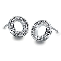 Stříbrné náušnice Hot Diamonds Emozioni Saturno Clear DE408