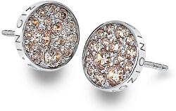 Stříbrné náušnice Hot Diamonds Emozioni Scintilla Champagne DE454