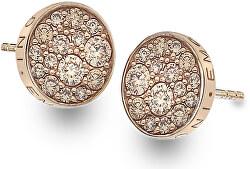 Stříbrné náušnice Hot Diamonds Emozioni Scintilla Champagne Rose DE455