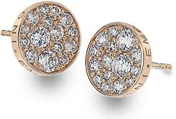 Stříbrné náušnice Hot Diamonds Emozioni Scintilla Rose Gold DE457