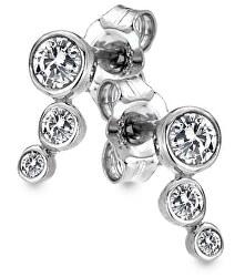 Strieborné náušnice s diamantmi Tender DE640