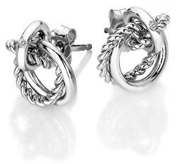 Stříbrné náušnice s pravým diamantem Jasmine DE610