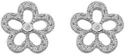 Stříbrné náušnice s pravými diamanty Daisy DE583