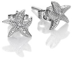 Stříbrné náušnice s pravými diamanty Daisy DE604