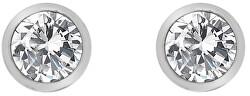 Stříbrné náušnice s topazy a pravým diamantem Willow DE584