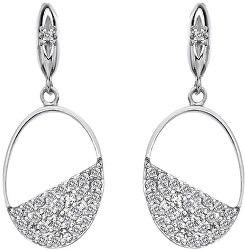 Cercei ovali din argint cu diamante Horizon Topaz DE622