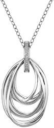 Strieborný náhrdelník s diamantom Chandelier Vintage DP651 (retiazka, prívesok)
