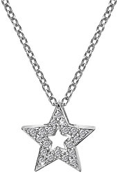 Strieborný náhrdelník s hviezdičkou Micro Bliss DP697 (retiazka, prívesok)
