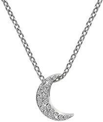 Stříbrný náhrdelník s půlměsícem Micro Bliss DP698 (řetízek, přívěsek)