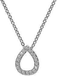 Strieborný náhrdelník so slzičkou Micro Bliss DP695 (retiazka, prívesok)