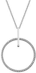 Strieborný náhrdelník s pravým diamantom Flora DP717 (retiazka, prívesok)
