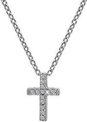 Strieborný náhrdelník s krížikom Micro Bliss DP696 (retiazka, prívesok)