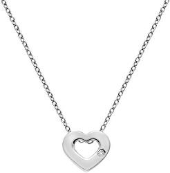 Stříbrný náhrdelník se srdíčkem Amulets DP747