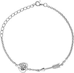 Stříbrný náramek s diamantem Cupid DL597