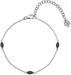 Stříbrný náramek pro narozené v lednu Anais Granát AB001