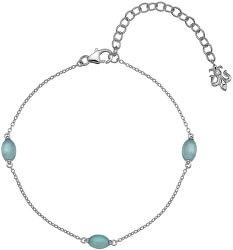 Strieborný náramok pre narodené v septembri Anais modrý achát AB009