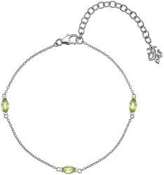 Stříbrný náramek pro narozené v srpnu Anais Peridot AB008