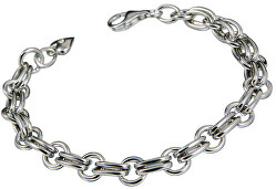 Strieborný náramok s diamantom Charm Statement DL071