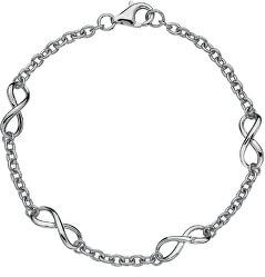 Strieborný náramok s diamantom Infinity DL293