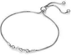 Strieborný náramok s diamantom Tender DL607