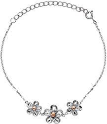 Stříbrný náramek s květy Forget me not DL596