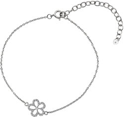 Stříbrný náramek s pravým diamantem Daisy DL579
