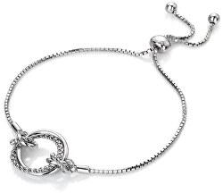 Stříbrný náramek s pravým diamantem Jasmine DL594