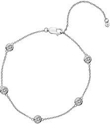 Stříbrný náramek s topazy a pravým diamantem Willow DL580