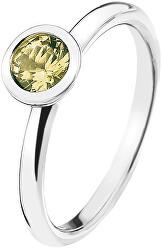 Emozioni Scintilla Peridot Nature ezüst gyűrű ER019