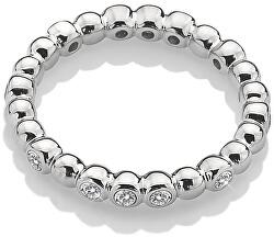 Csillogó ezüst gyűrű Emozioni ER024