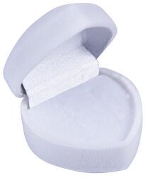 Bílá dárková krabička na náušnice Srdce F-75/NA/A1