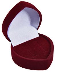 Bordó dárková krabička na náušnice Srdce F-75/NA/A10