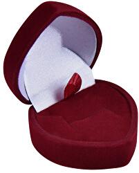 Bordó dárková krabička na náušnice nebo prsten Srdce F-75/A10