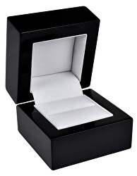 Černá dřevěná krabička na prsten BB-2/A25
