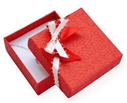 Červená dárková krabička s mašličkou GS-5/A7
