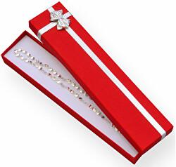 Červená krabička s mašlí na náramek ET-9/A7/Ag