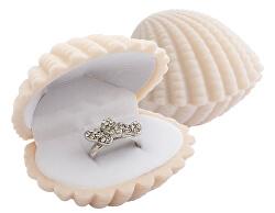 Dárková krabička na prsten nebo náušnice Škeble GD-6/A20