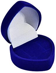 Modrá dárková krabička na náušnice Srdce F-75/NA/A14