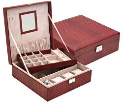Nízká červená šperkovnice SP-1812/A7