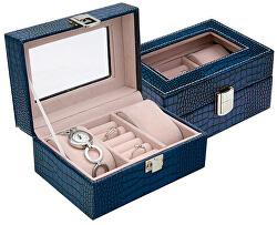 Tmavě modrá šperkovnice SP-1813/A14