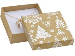 Vánoční dárková krabička na náušnice KX-5/AG