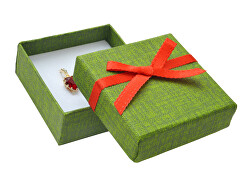 Zelená dárková papírová krabička MX-4/A19/A7