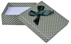 Cutie verde polka dot pentru setul de bijuterii KK-5 / A19