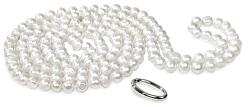 Dlouhý náhrdelník z bílých pravých perel JL0076